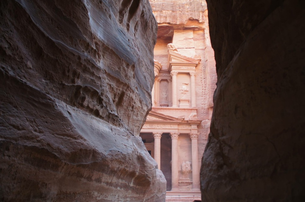 Glimpse of the Treasury from the Siq